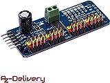 AZDelivery PCA9685 16 Kanal 12 Bit PWM Servotreiber für Arduino und Raspberry Pi -