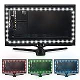 Luminoodle USB LED Hintergrund-Beleuchtung für TV in Farbe, 15 Farben, RGB LED-Bias Beleuchtung für HDTV-, TV-Bildschirm und PC-Monitor, LED-Strip Selbstklebend (4 Meter)