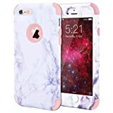 WE LOVE CASE iPhone 6 Plus Cover Marmo 360-Grad all Inclusive Custodia Rose Cassa Duro del PC di Plastica e Silicone Protezione Shock Proof Anti Graffio Caso per iPhone 6 Plus / 6s Plus 5,5'
