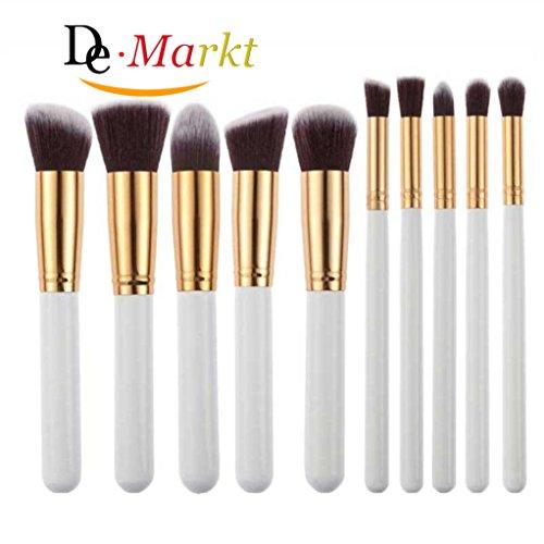 Demarkt Make-up Pinselset, 10er Pack