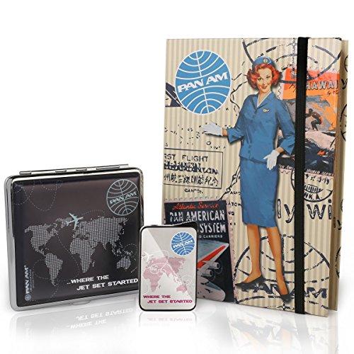 pan-am-zigarettenetui-mit-feuerzeug-vintage-geschenke-set-retro-fur-raucher