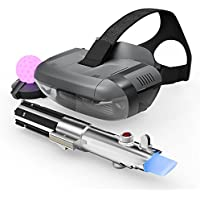 Lenovo - Desafios Jedi - Paquete de Realidad Virtual (VR) con las Gafas de realidad aumentada Lenovo Mirage + Mando espada láser + Baliza de movimiento