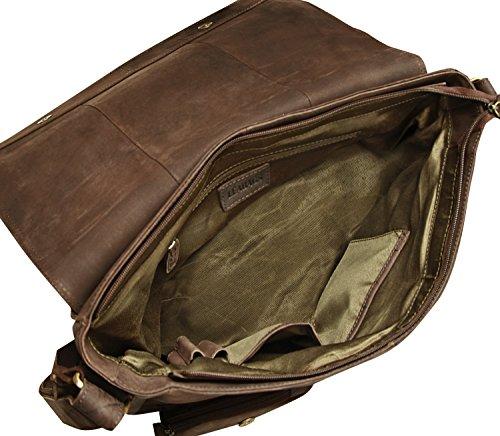 d9d22516e3 ... LEABAGS Melbourne borsa a tracolla vintage in vera pelle di bufalo -  Noce moscata Noce moscata ...