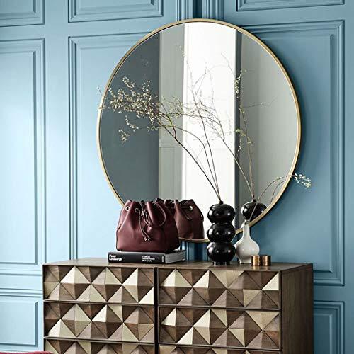 JKAD Runder hängender Spiegel Wandmontierter Badezimmerspiegel Nordic Minimalist Metal Round Bathroom Wall Mirror (Color : Black, Size : 40cm)