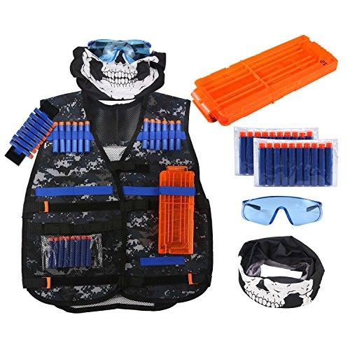 niceEshop (TM - Kit de Chaleco táctico para niños Nerf Guns N-Strike Elite Series Great Toys y Regalos para Juegos de niños, Camouflage
