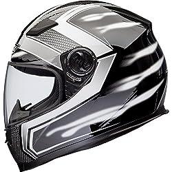 Shox Sniper Skar Motorrad Helm XL Weiß