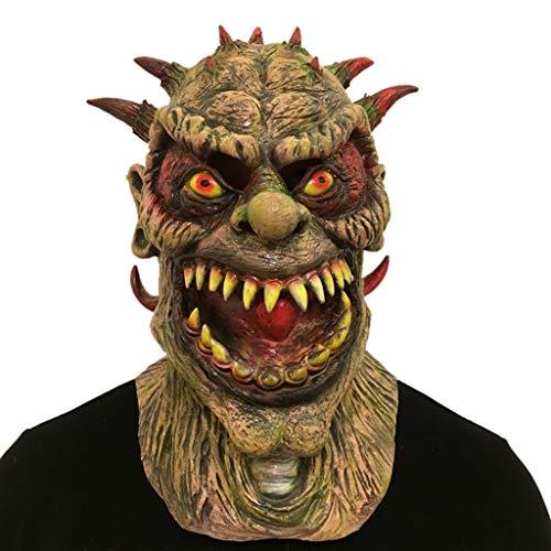 J&A Halloween Horror Variation Monster Maske, Cosplay Latex Biochemische Monster Kopf Maske Für Festival Dance Parties Kostüm,Brown