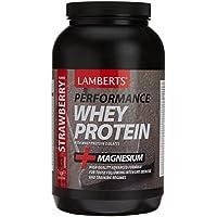Lamberts Whey Protein Suplemento para Deportistas, Sabor a Fresa - 1000 gr