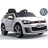 "Kinderfahrzeug - Elektro Auto ""VW Golf 7 GTI"" - lizenziert - 12V7AH Akku,2 Motoren- 2,4Ghz Fernsteuerung, MP3-Weiss"