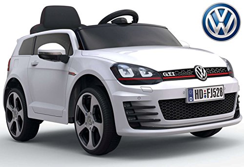 Véhicule pour enfants - Voiture électrique 'Volkswagen Golf GTI 7' - licence - batterie 12V7AH,...