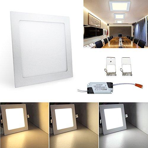 HENGDA-Lmpara-de-techo-LED-cuadrada-de-24W-sper-brillante-con-downlight-empotrable-de-placa-cuadrada-3-modos-de-color-de-luz-cambiables-AC-85-265-V-Clase-de-eficiencia-energtica-A