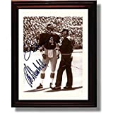 Framed Jim Harbaugh & Bo Schembechler Michigan Wolverines Autograph Replica Print