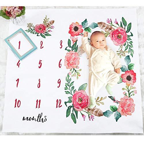Jungen-Mädchen-Fotografie-Decke Weiche große Babydecken Fotografie Premium Hintergrund Teppich Foto Prop Mat Fotografie Zubehör Kostüm Dusche Geschenke for Mädchen und Jungen Neugeborenen - Dusche Kostüm