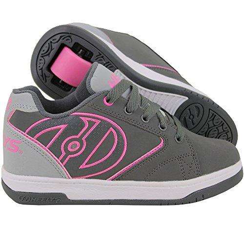 Heelys Unisex-Kinder Fitnessschuhe Mehrfarbig (Charcoal/Grey/Pink 000) 35 EU