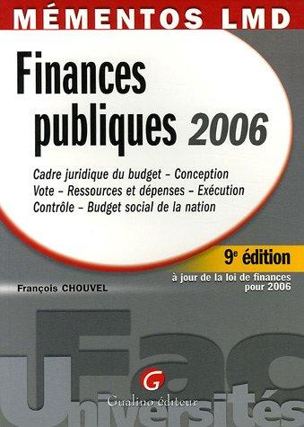 Finances publiques 2006 par François Chouvel