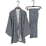 Männer Japanischen Stil Roben Kimono Pyjamas Anzug Morgenmantel Set-Größe L # 09