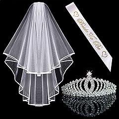 Idea Regalo - Awtlfe, corona e velo da sposa, tiara, per matrimonio