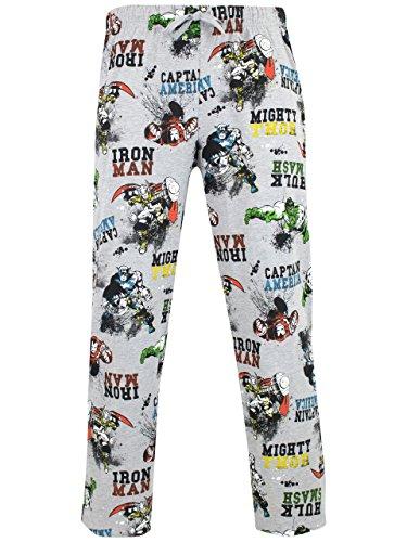 Marvel Herren Avengers Schlafanzughosen Grau X-Large