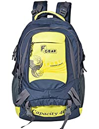 F Gear Firefly V2 Laptop Rucksack 40 Liters (Navy Blue, Yellow)