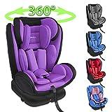 XOMAX XM-KI360 Siège auto pour enfant avecfonction de rotation et ISOFIX I pourpre I...