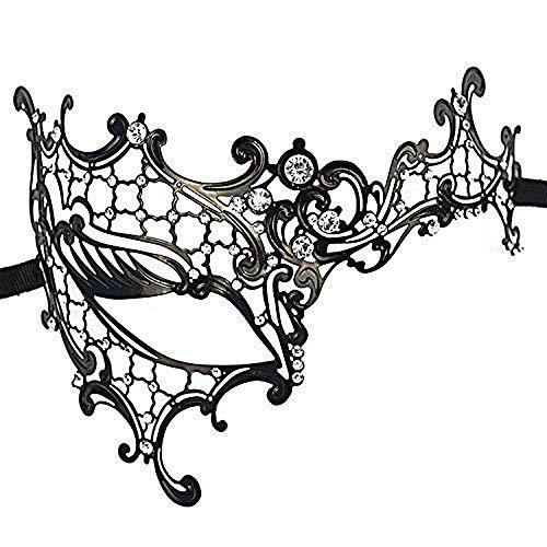 Ogquaton Maske Diamant Leichte Metallmaske Venezianischen Stil Metall Filigrane Maskerade Maske Maskerade Party Show kostüme Zubehör für Unisex 1 (Metall Filigran Maske)