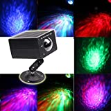 Disco Lights Ocean Wave Projector Flame Light-16 Colors Water Wave effect With Sound Activated Remote Control Stage Strobe Lights-Best for Kids Wedding Birthday Xmas Halloween Party Night Lighting