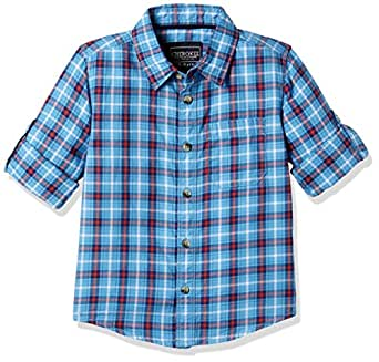 Cherokee by Unlimited Boys' Plain Regular Fit Cotton Shirt (273023574_BLUE_03Y_FS)