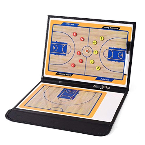 jiele Basketball Coaching Board Trainer Klemmbrett Tactical Magnettafel Kit mit Dry Erase, Marker un (Basketball) (Basketball Coaching-board)