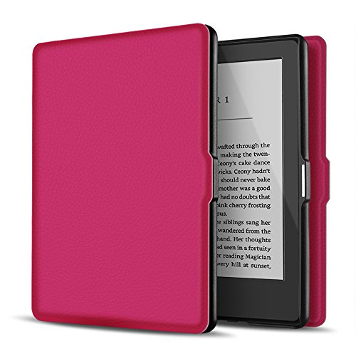 TNP Case for Kindle Paperwhite - Slim & Light Smart Cover Case with Auto Sleep & Wake for All-New Amazon Kindle Paperwhite Fits All 2012, 2013, 2015 and 2016 Versions (Hot Pink)