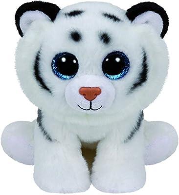 TY - Classics Tundra, tigre de peluche, 15 cm, color blanco (42106TY)