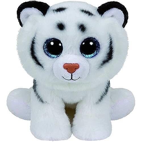 peluches TY - Classics Tundra, tigre de peluche, 15 cm, color blanco (42106TY)