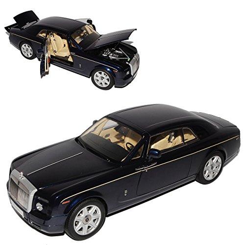 Kyosho Rolls Royce Phantom Coupe Peacock Blau 1/18 Modell Auto mit individiuellem Wunschkennzeichen - Rolls-royce Phantom Modell