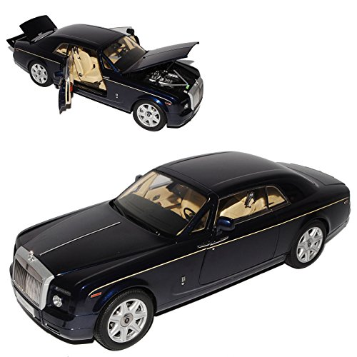Kyosho Rolls Royce Phantom Coupe Peacock Blau 1/18 Modell Auto mit individiuellem Wunschkennzeichen - Phantom Modell Rolls-royce