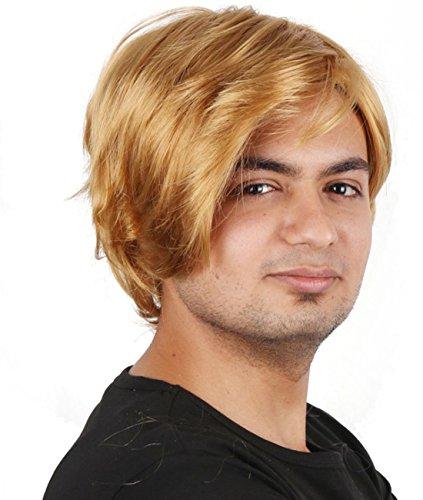 Herren Hohe Qualität Synthetik kurz Golden Hair Wig