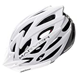 meteor® Fahrradhelm Marven Erwachsene Jugendhelme Rad Helm für Radfahrer Radsport Inline-Skate BMX Fahrrad Scooter Entwickelt für die Sicherheit der jüngsten Benutzer L 58-61 cm White/Grey
