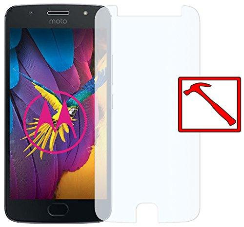 Slabo Premium Panzerglasfolie Motorola Moto G5s Echtglas Displayschutzfolie Schutzfolie Folie (verkleinerte Folien, aufgrund der Wölbung des Displays) Tempered Glass KLAR - 9H Hartglas
