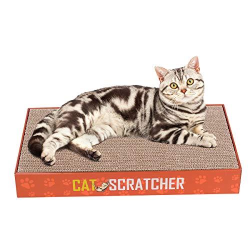 Pappe Katze Kratzlounge Kratzmöbel Kratzbett Kratzmöbeln aus Wellpappe Cat Lounge Scratch Board Katzenspielzeug Set mit 2 Stück Katzen Kratzbrett ()