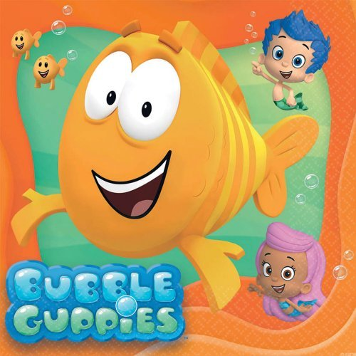 Bubble Guppies Luncheon Napkins - Birthday and Theme Party Supplies - 16 per Pack by SmileMakers (Bubble Supplies Party Guppy)