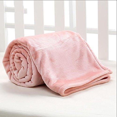 YAOHAOHAO Rosa Babydecke Decke Polyester Material Winter Kindergarten Konzipiert für Baby (100*150cm)