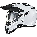 THH TX-27 Plain Dual Sport Motocross Helmet XS White