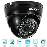 KKmoon 1080P AHD Surveillance Caméra Dôme 2.0MP 3,6 mm 1/4 Inch CMOS 24 IR Lampes Vision Nocturne Infrarouge étanche Intérieure Extérieure CCTV Sécurité Système PAL Noir