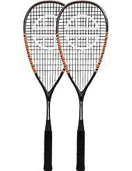 Unsquashable Unisex inspirieren y-40002Pack Squashschläger, 2Stück, grau/orange, M