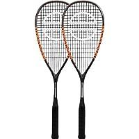 Unsquashable Juego de 2 Raquetas de Squash, Unisex, Color Gris/Naranja, Talla M