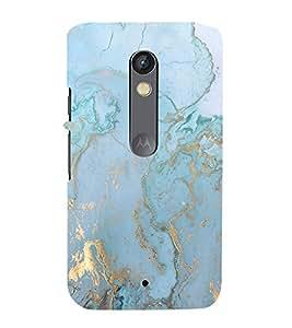 Marble Pattern 3D Hard Polycarbonate Designer Back Case Cover for Motorola Moto X Play