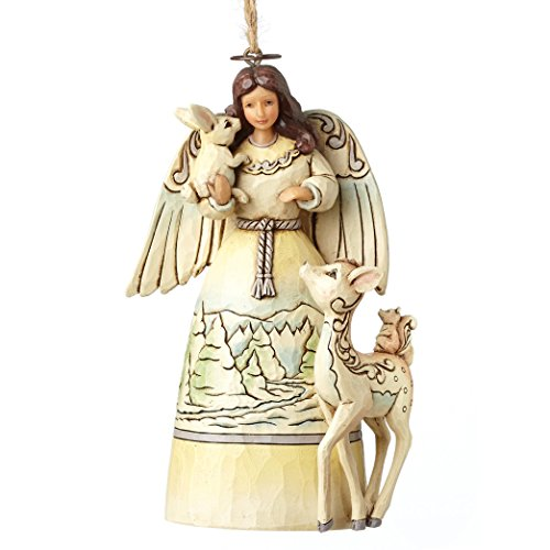 Heartwood Creek White Woodland Angel (Hanging Ornament) -