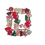 Käthe Kruse 73451 Adventkalender Taschen mit Zahlen