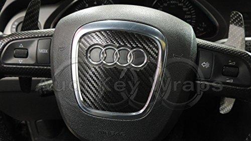 Rivestimento protettivo in fibra di carbonio per airbag, colore: nero