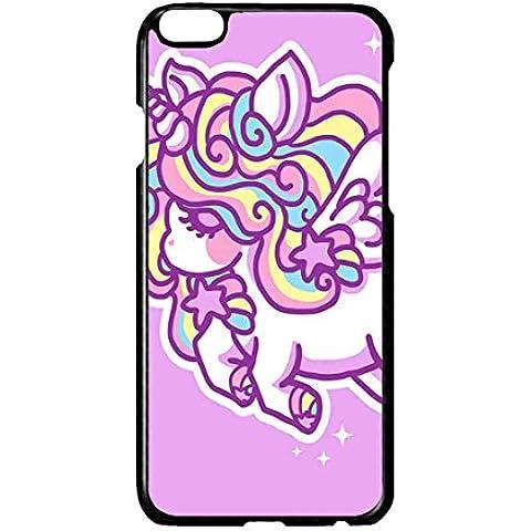 TPU Protettivo Skin Custodia Protettiva Shell Case per Apple iPhone 6 6S Cover Unicorn Horse Cartoon - Alluminio Horse Head