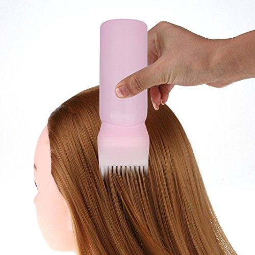 Heißen Kamm Schwarze Haare (Holeider Salon Hair Dye Flasche Applikator Bürste Dispensieren Haarfärbung Färben Werkzeug Rosa)