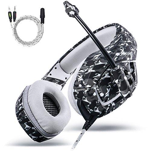 Gaming Kopfhörer PS4, MillSO Neu K1 Gaming Headset für PC PlayStation4 Xbox one S mit 3,5mm Audio Klinke Y Kabel – Schwarz & Camouflage